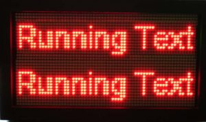 running-text